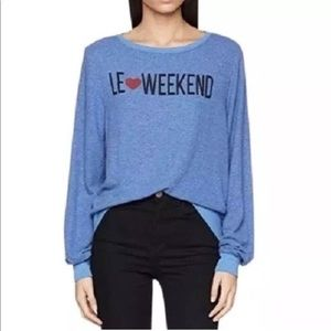 WILDFOX: LE❤️WEEKEND Pullover